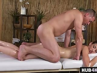 masseur,bangs,russian