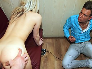 blonde,blowjob,handjob