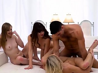 blonde,brunette,group sex