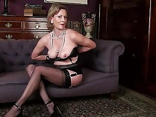 fingering,mature,stockings