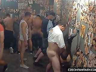 mature,group sex,facial