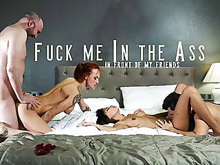 anal,group sex,redhead
