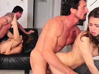 brunette,doggystyle,group sex
