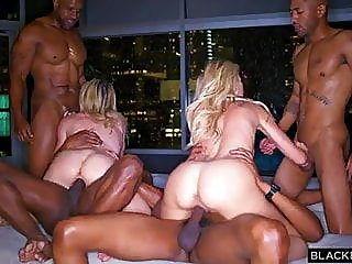 blonde,group sex,creampie