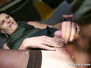 blowjob,brunette,stockings