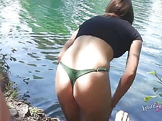 public creampie at the lake,,