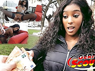 german scout - slim ebony teen rae picked up and fucked for cash,,