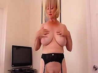 big boobs,blonde,handjob