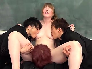 asian,college,group sex