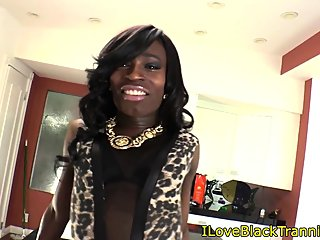 smalltit,ebony,tranny