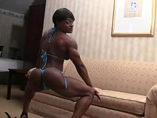 big clit,lingerie,muscular women