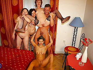 mature,group sex,old &