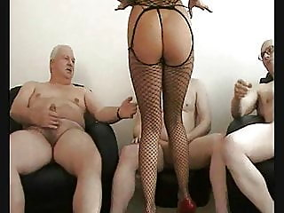 mature,group sex,creampie