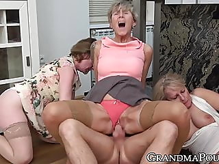 cumshot,group sex,stockings