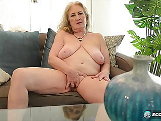 blonde,fingering,granny