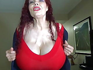 mature,big boobs,redhead