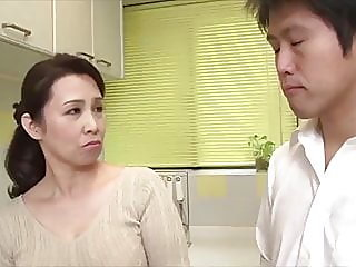 japanese hot mom cheating with stepson,,