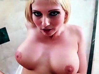 big boobs,blonde,cumshot
