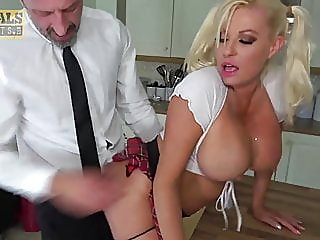 blonde,blowjob,big boobs