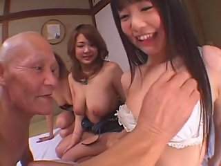 asian,big tits,group sex